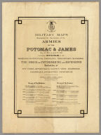 Title Page: Military maps illustrating operations, Armies of the Potomac & James.