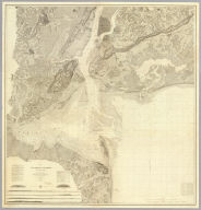 Map of New-York Bay And Harbor And The Environs.