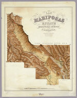 Las Mariposas Estate Mariposas County California. Containing 44,386 83/100 Acres Or 70 Square Miles. Lith of Sarony, Major & Knapp, 449 Broadway, N.Y. Max Strobel Engineer.