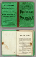 (Covers to) The Historical War Map. Asher & Co. Entered ... 1862, by Asher & Co. ... Indiana. E.R. Jewett & Co. Engravers, Buffalo, N.Y.