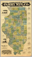 (Map of Illinois). Compliments Of Parry M'F'G. Co. Indianapolis, Ind. Wm. B. Burford, Lith., Indianapolis ...