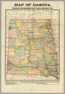 Map of Dakota. Drawn From Official Plats Of Public Surveys, And Published In The Interest Of Immigration By The Chicago, Milwaukee & St. Paul Railway Co. Copyright, 1882, by Rand, McNally & Co., Map Publishers, Chicago, Ill. Rand, McNally & Co., Engr's Chicago ...