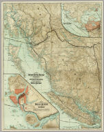 Map Of The Grand Trunk Pacific Railway In British Columbia Showing Terminus At Prince Rupert. 3-28-'10. Copyright, 1907, Poole Bros., Chicago. (inset) Map Of Price Rupert And Vicinity. (inset) Latitude Map.