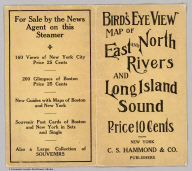 (Covers to) Birds Eye View Map Of New York And Vicinity Copyright 1909 by C. S. Hammond & Co., N. Y. Drawn & Printed By C. S. Hammond & Co., N. Y.