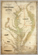 A Chart of the Chesapeake And Delaware Bays Compiled And Published By Fielding Lucas Junr. Baltimore Corrected_1840. Engraved by John and William Warr Philadelphia. Entered ... 1832 by Fielding Lucas Jr. ... Maryland.