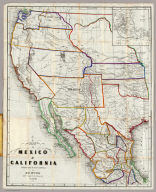Map Of Mexico & California. Compiled from the latest authorities. By Juls. Hutawa. Lithr. Second St. 45 St. Louis, Mo. 2nd Edition. 1863. (inset) Vicinity of Mexico.