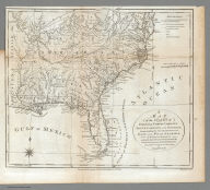A Map of the States of Virginia, North Carolina, South Carolina, and Georgia, Comprehending the Spanish Provinces of East and West Florida: Exhibiting the Boundaries as fixed by the late Treaty of Peace between the United States and the Spanish Dominions. Compiled from late Surveys & Observations by Joseph Purcell. W. Harrison Senr. & Junr. sc. Engraved for Morse's Geography. Publish'd by John Stockdale Jany. 25th 1792.