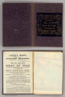 (Covers to) Map Of The Seat Of War Exhibiting The Surrounding Country, The Approaches By Sea & Land To The Capital Of The United States And The Military Posts, Forts, &c. Published by Jacob Monk, Philadelphia. 1861. T. Sinclair's Lith, Phila.