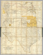 Engineer Bureau, War Department. Map Of The States Of Kansas And Texas And Indian Territory, With Parts Of The Territories Of Colorado And New Mexico. From the most recent official surveys and explorations and other authentic information. 1867. J. Bien, Lith. 24 Vesey St. N.Y.