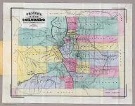 Thayer's Map Of Colorado. Published by Richards & Co. Denver, Colorado. 1873. Third Edition. Rufus Blanchard Engraver.