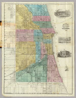 Guide Map of Chicago. Published by Rufus Blanchard, 146 Lake St. 1868. Lith. Chas. Shober & Co.