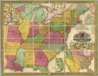 Mitchell's Reference & Distance Map Of The United States By J.H. Young. Published By S. Augustus Mitchell. Philadelphia For Sale By Mitchell & Hinman, No. 6 North Fifth Street 1834. Engraved by J.H. Young, F. Dankworth, E. Yeager & E. F. Woodward. Entered ... 1833 by S. Augustus Mitchell ... Pennsylvania ... (illustration) Designed by W. Mason. (inset) A General Map Of The United States with the contiguous British & Mexican Possessions. (with 12 additional inset maps).
