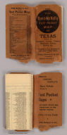 (Covers to) Rand, McNally & Co.'s Texas. Rand, McNally & Co.'s New Business Atlas Map of Texas. Rand, McNally & Co., Map Publishers and Engravers, Chicago, 1902. Copyright 1902, ... 1898, ... 1895 ... (inset) Southern Portion Of Texas On Same Scale.