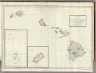 A Chart of the Sandwich Islands as Surveyed during the Visits of His Majesty's Sloop Discovery and Armed Tender Chatham Commanded by George Vancouver Esq. in the Years 1792, 1793 & 1794, and prepared under his immediate inspection by Lieut. Joseph Baker. Engraved by J. Warner. 15. (with) Part of the Gallapagos Isles (and) the Island of Cocoas. London: Published May 1st, 1798, by J. Edwards Pall Mall & G. Robinson Paternoster Row.