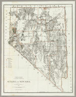Department Of The Interior General Land Office J.A. Williamson, Commissioner. State Of Nevada. 1879. Compiled from the official Records of the General Land Office and other sources by C. Roeser, Principal Draughtsman G.L.O. Photo lith & print by Julius Bien 16 & 18 Park Place N.Y.
