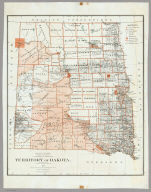 Department Of The Interior General Land Office J.A. Williamson, Commissioner. Territory Of Dakota. 1879. Compiled from the official Records of the General Land Office and other sources by C. Roeser, Principal Draughtsman G.L.O. Photo lith & print by Julius Bien 16 & 18 Park Place N.Y.