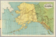 Rand-McNally Official 24x36 Map Of Alaska. Copyright, 1897, By Rand, McNally & Co.