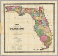 Drew's New Map Of The State Of Florida.