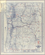 Rand McNally Official 1925 Auto Trails Map Washington Oregon. Copyright by Rand McNally & Company Chicago, Ill. Made in U.S.A.