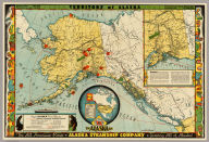 Territory of Alaska. The Alaska Line. The All-American Route, Alaska Steamship Company, Serving All of Alaska. Copyright 1936, Frank McCaffrey, Seattle. Printed in U.S.A. (with two inset maps)