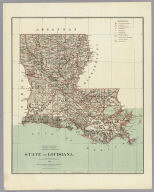 Department Of The Interior General Land Office J.A. Williamson, Commissioner. State of Louisiana. 1879. Compiled from the official Records of the General Land Office and other sources by C. Roeser, Principal Draughtsman G.L.O. Photo lith & print by Julius Bien 16 & 18 Park Place N.Y.