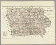 Department Of The Interior General Land Office J.A. Williamson, Commissioner. State of Iowa. 1878. Compiled from the official Records of the General Land Office and other sources by C. Roeser, Principal Draughtsman G.L.O. Photo lith & print by Julius Bien 16 & 18 Park Place N.Y.