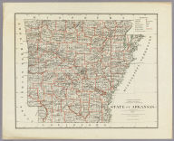 Department Of The Interior General Land Office J.A. Williamson, Commissioner. State of Arkansas. 1878. Compiled from the official Records of the General Land Office and other sources by C. Roeser, Principal Draughtsman G.L.O. Photo lith & print by Julius Bien 16 & 18 Park Place N.Y.