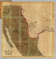 Map of Mexico Showing the Seat of War. Lith. of T. Sinclair, 79 So. 3rd St. Philadelphia.