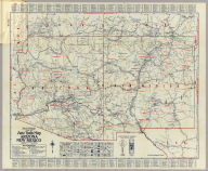 Rand McNally Official 1925 Auto Trails Map Arizona New Mexico. Copyright by Rand McNally & Company Chicago, Ill. Made in U.S.A.