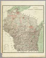 Department Of The Interior General Land Office J.A. Williamson, Commissioner. State of Wisconsin. 1878. Compiled from the official Records of the General Land Office and other sources by C. Roeser, Principal Draughtsman G.L.O. Photo lith & print by Julius Bien 16 & 18 Park Place N.Y.