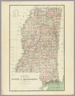 Department Of The Interior General Land Office J.A. Williamson, Commissioner. State of Mississippi. 1878. Compiled from the official Records of the General Land Office and other sources by C. Roeser, Principal Draughtsman G.L.O. Photo lith & print by Julius Bien 16 & 18 Park Place N.Y.