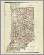 Department Of The Interior General Land Office J.A. Williamson, Commissioner. State of Indiana. 1878. Compiled from the official Records of the General Land Office and other sources by C. Roeser, Principal Draughtsman G.L.O. Photo lith & print by Julius Bien 16 & 18 Park Place N.Y.