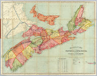 Mackinlay's map of the Province of Nova Scotia, including the island of Cape Breton. Compiled from actual & recent surveys. Published By A. & W. Mackinlay, Granville Street, Halifax, N.S. (1885)