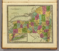 New York. (with) inset map of Long Island.
