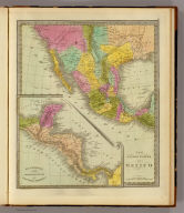 The United States Of Mexico. (with) Guatemala or the United Provinces Of Central America.