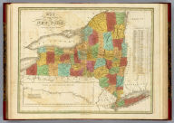 Map Of The State Of New York. Published by A. Finley Philada. 1825. Engraved by J.H. Young. Copy right secured according to law.