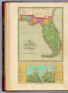 Map of Florida according to the Latest Authorities. (with) Comparative Elevation of the Principal Mountains Cities &c. in North & South America. J.H. Young Sc. Philadelphia Published by A. Finley 1826.