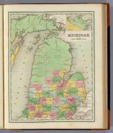 Michigan. (with) Northwest Part Of Michigan. Engraved by G.W. Boynton. Entered ... 1838, by T.G. Bradford ... Massachusetts.