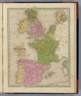 Western Europe including The British Islands, France, Spain, Portugal, Holland, Belgium, Denmark. Engraved by G.W. Boynton. Entered ... 184 by S.G. Goodrich ... Massachusetts.