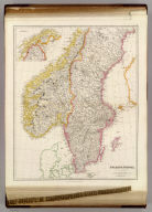 Sweden & Norway, By J. Arrowsmith. (with) inset map of northern Sweden & Norway. (Map) 8. London, Pubd. 15 Feby. 1842, by J. Arrowsmith, 10 Soho Square.