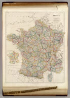 France, By J. Arrowsmith. (with) two inset maps: Corsica and Sketch of France Divided into Provinces. (Map) 11. London, Pubd. 15 Feby. 1842, by J. Arrowsmith, 10 Soho Square.