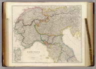 North Italy &c. and the Passes of the Alps & Apennines, By J. Arrowsmith. (with) Sardinia. (Map) 17. London, Pubd. 15 Feby. 1842, by J. Arrowsmith, 10 Soho Square.