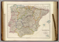 Spain & Portugal, By J. Arrowsmith. (with) Minorca. (Map) 21. London, Pubd. 15 Feby. 1842, by J. Arrowsmith, 10 Soho Square.