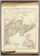 Lower Canada, New Brunswick, Nova Scotia, Prince Edwards Id., Newfoundland, and a large portion of the United States. By J. Arrowsmith. (with) inset map of Newfoundland. (Map) 42. London, Pubd. 15 Feby. 1842, by J. Arrowsmith, 10 Soho Square.