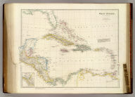 West Indies, By J. Arrowsmith. (with) inset map of the northern section of Guatimala (sic) (Map) 45. London, Pubd. 15 Feby. 1842, by J. Arrowsmith, 10 Soho Square.