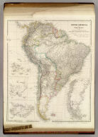 South America. From Original Documents, including The survey by the officers of H.M. Ships Adventure and Beagle. Dedicated to Captain R. Fitz Roy, R.N., by J. Arrowsmith. (with) inset maps of Galapagos Islands, Port San Carlos, Falkland Islands, and Patagonia. (Map) 46. London, Pubd. 18th May. 1842, by J. Arrowsmith, 10 Soho Square.
