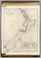 Map of the Colony of New Zealand: From Official Documents. By John Arrowsmith. 1843. (with) map of the world on Mercators Projection. London, Pubd. 2nd Jan. 1843 by John Arrowsmith, 10 Soho Square.