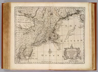 A new and accurate map of New Jersey, Pensilvania, New York and New England, with the adjacent countries. Drawn from surveys, assisted by the most approved modern maps & charts, and regulated by astronomical observations. By Eman. Bowen. (London: Printed for William Innys, Richard Ware, Aaron Ward, J. and P. Knapton, John Clarke, T. Longman and T. Shewell, Thomas Osborne, Henry Whitridge ... M.DCC.XLVII)