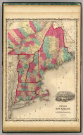 Johnson's New England And Lower Canada By Johnson & Browning. No. 13-14.