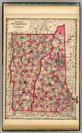 Johnson's New Hampshire And Vermont By Johnson & Browning. No. 16-17.
